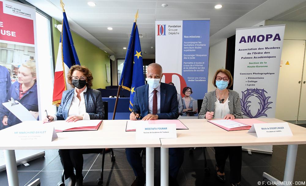Signature Convention AMOPA – Rectorat Toulouse – Fondation (1)